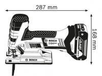 Bosch GST 18 V-LI S Professional (4.0 Ah x 2, L-BOXX) (№ 06015A5102)