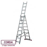 Универсальная лестница, трехсекционная 3х7 CORDA