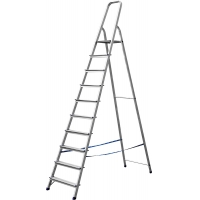 Лестница-стремянка СИБИН алюминиевая, 10 ступени, 208 см, Арт 38801-10