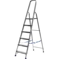 Лестница-стремянка СИБИН алюминиевая, 6 ступеней, 124 см, Арт 38801-6