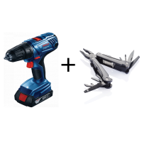 Bosch GSB 180-LI Professional + Swiss Peak Multitool