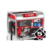 Генератор ЗУБР бензиновый, 4-х тактный, ручной и электрический пуск, автоматический пуск, 4500/4000 Вт, 220/12