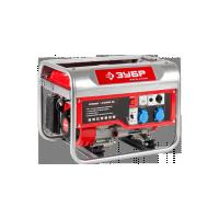 Генератор ЗУБР бензиновый, 4-х тактный, ручной пуск, 2200/2000Вт, 220/12В