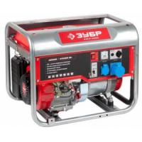 Генератор ЗУБР бензиновый, 4-х тактный, ручной пуск, 4500/4000Вт, 220/12В