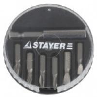 "Набор STAYER Биты ""MASTER"" с магнитным адаптером в круглом мини-боксе, PH1, PH2, PH3, PZ1, PZ2, PZ3, 7 пред"