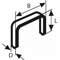 Тонкая металлическая скоба, тип 53 11,4 x 0,74 x 4 mm (№ 2609200291)